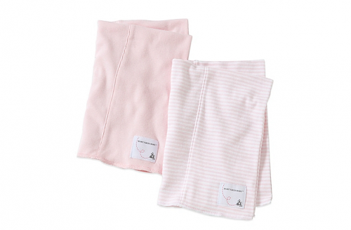 Burt's Bees Baby® 2-Pack Organic Cotton Burp Cloths in Blossom/Stripe