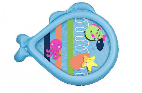 SwimSchool Blue Tummy Time Water Filled Play Mat