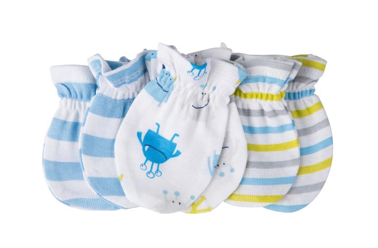 Gerber® Baby Boys' Stripe 3-Pack Mittens