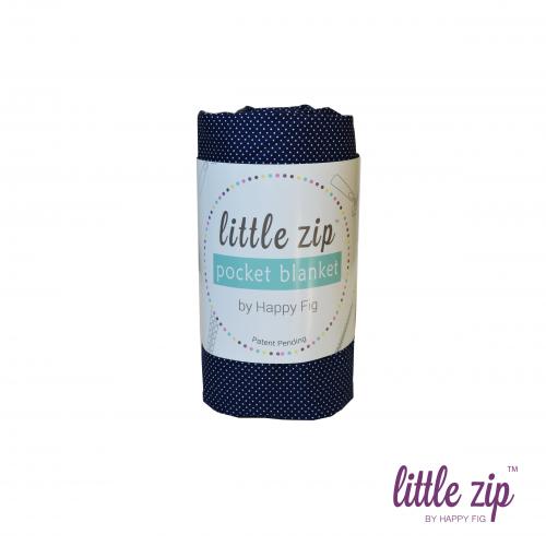 Little Zip Pocket Blanket by Happy Fig Nautical Navy