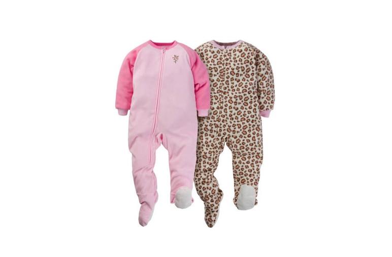 Gerber Baby Toddler Microfleece Footed Blanket Sleeper,