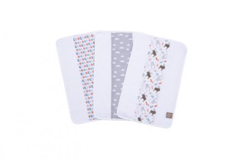 Trend Lab Scandi Forest 3-Pack Jumbo Burp Cloth Set