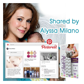 The LatchPal Nursing Clip was Shared by Alyssa Milano!