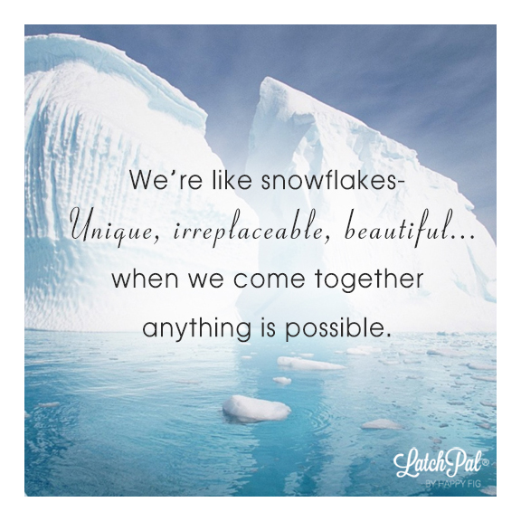 We're like Snowflakes. Stronger Together.